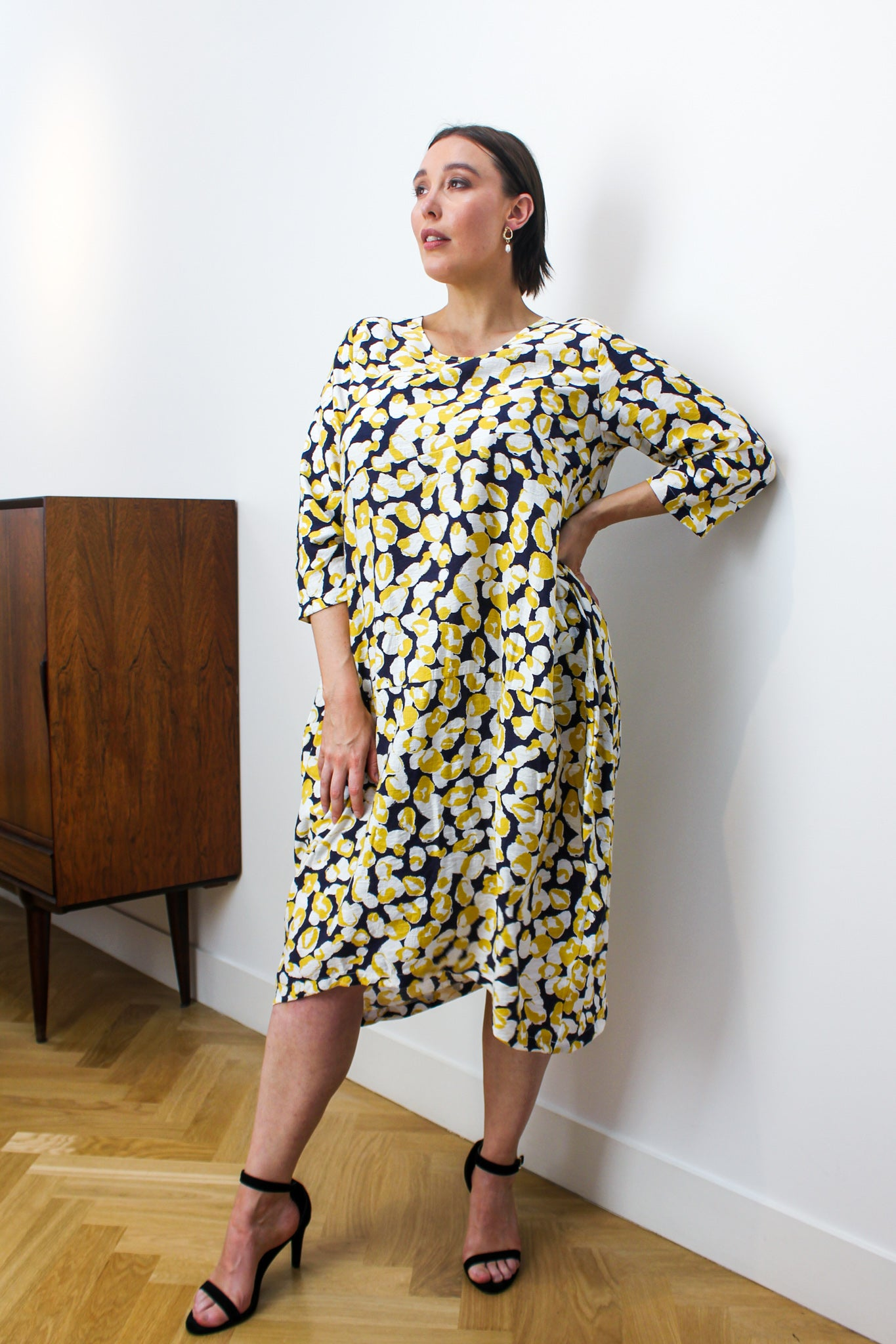 DIAGONAL SEAM PRINT DRESS