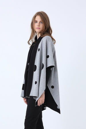 SPOTTED CAPE KNIT