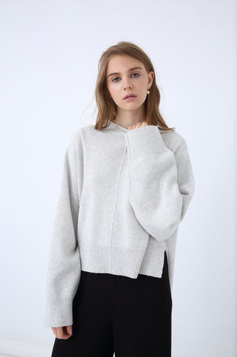 18K80123 RELAXED HIGH NECK SWEATER (more colours available)