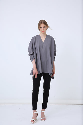 18A8045 SIDE SPLIT GATHER SLEEVE TUNIC (more colours available)