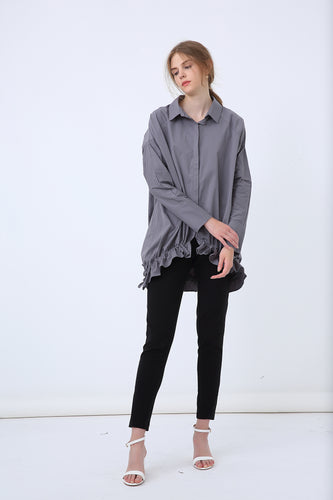 18A8047 BILLOW GATHER HEM SHIRT (more colours available)