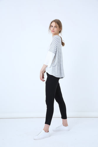 18A8058 STRIPE AND PLAIN TEE (more colours available)
