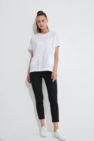 SPLICED POCKET TEE