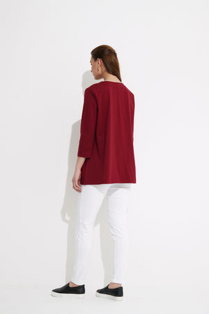 WOVEN PLEAT TOP