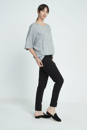 FOLD OVER HEM TOP