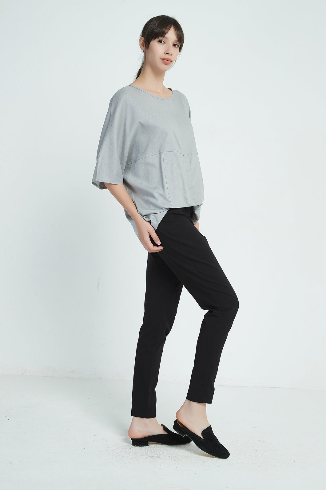 19A9028 FOLD OVER HEM TOP (more colours available)