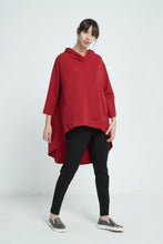 18A80192 SPLIT BACK JUMPER WITH HOOD (more colours available)