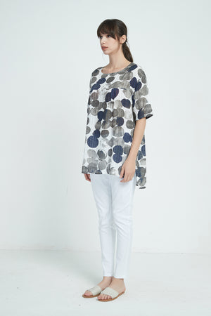 INK BLOT LONGLINE TOP