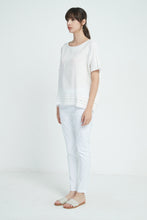 19A9046 LINEN LACE INSERT TOP (more colours available)