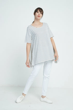 OVERSIZED DOUBLE STRIPE TEE
