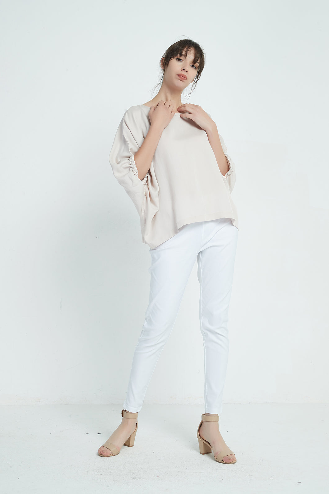 19A9062 ELASTIC SLEEVE TOP (more colours available)