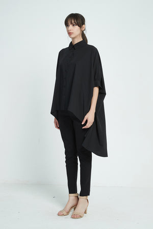 19A9018 OVERSIZED PONCHO SHIRT (more colours available)