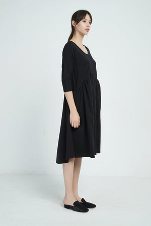 19A9004 GATHER POCKET DRESS (more colours available)