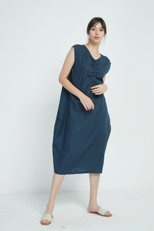 ADJUSTABLE DRAWSTRING DRESS