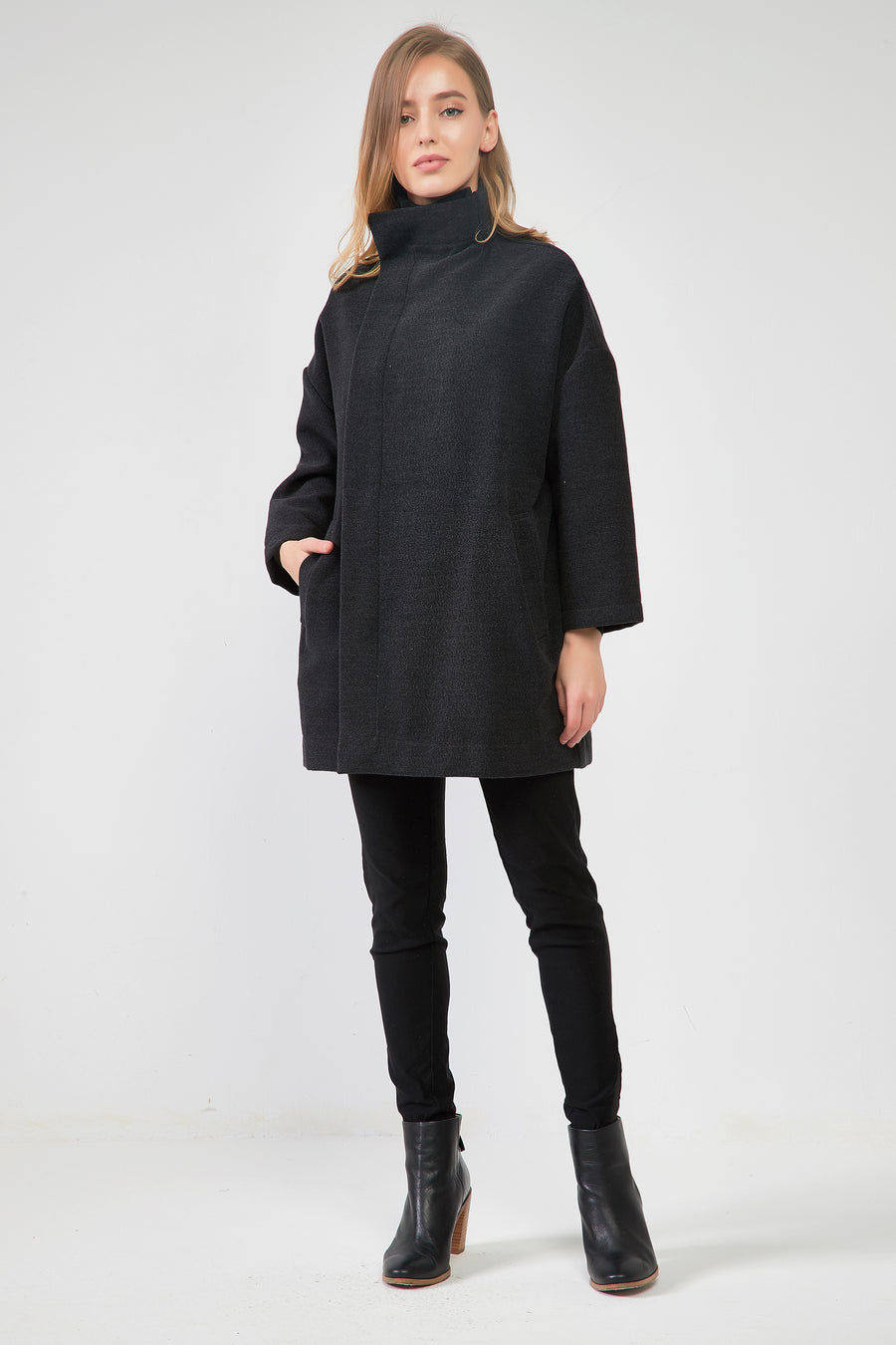 HIGH NECK TWO TONE COAT