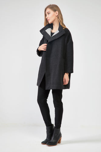 18C80153 HIGH NECK TWO TONE COAT (more colours available)