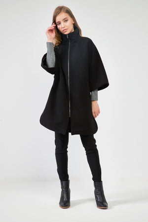 18C80168 CURVED HEM COAT (more colours available)