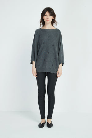 METALLIC SPOT KNIT