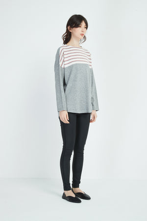 TRI COLOUR STRIPE KNIT