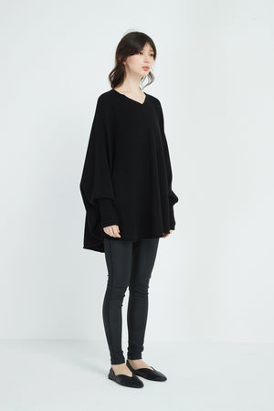 BAT WING POCKET KNIT