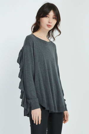 RUFFLE BACK KNIT
