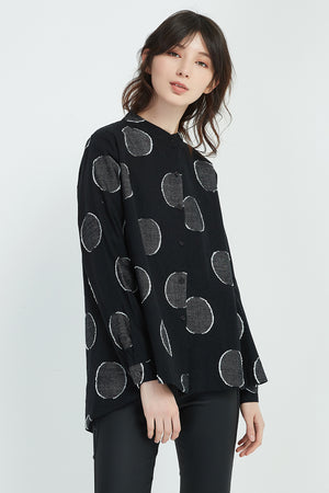 CROPPED BIG SPOT SHIRT