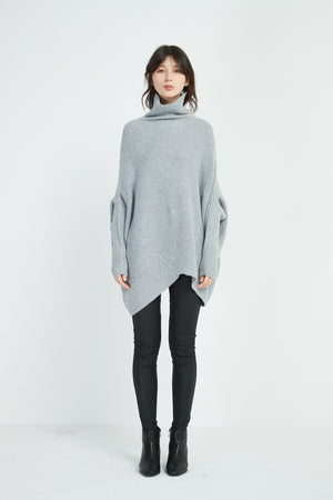 DIAGONAL PANEL KNIT