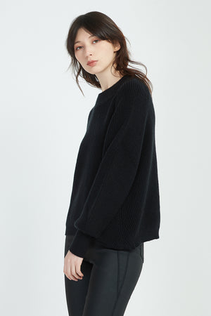 CROPPED RIB JUMPER