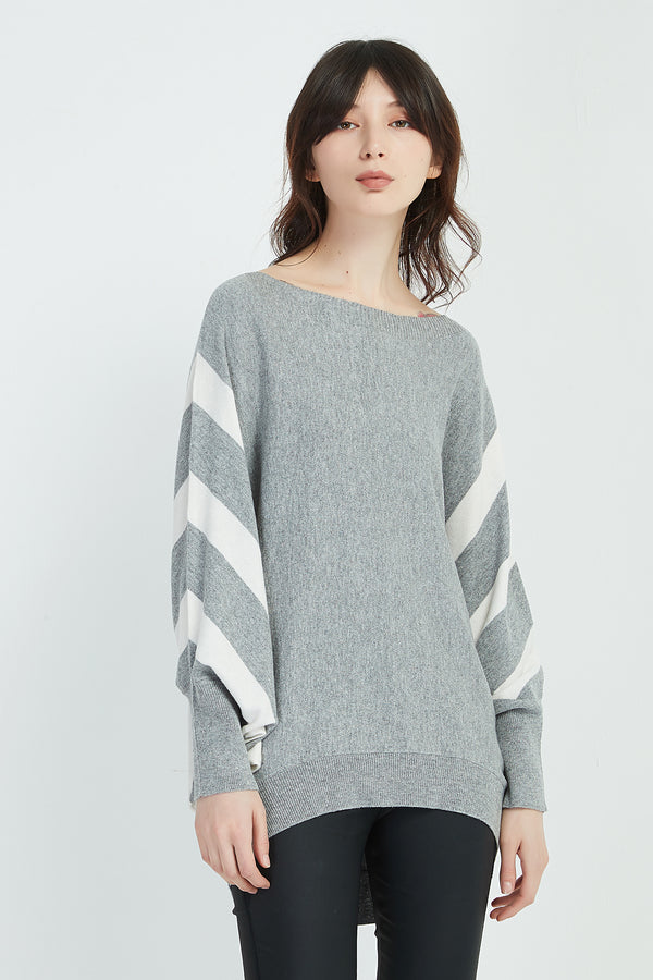 BAT WING STRIPE KNIT