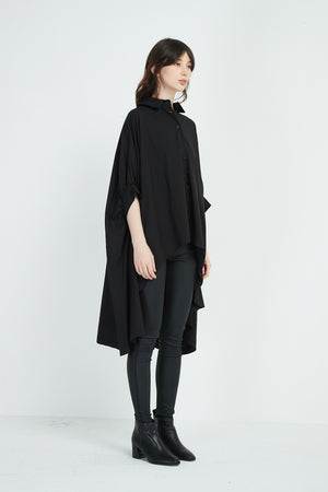 OVERSIZED PONCHO SHIRT