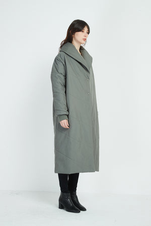 HEAVY PADDED LONG COAT