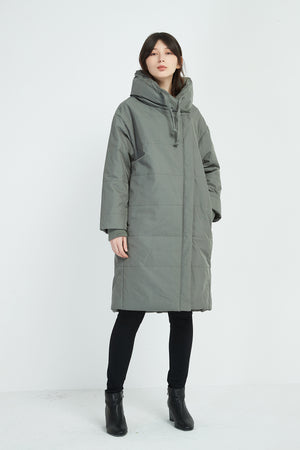 DRAWSTRING HEAVY PADDED COAT