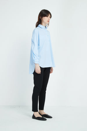 ELASTIC SLEEVE DETAIL SHIRT