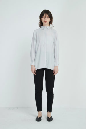 PLEAT COLLAR SHIRT
