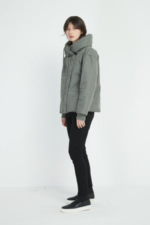 HEAVY PADDED BIG COLLAR JACKET