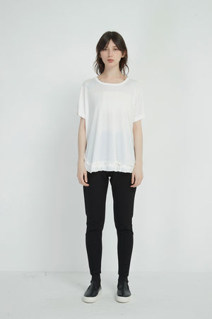 FRILL HEM TEE (more colours available)