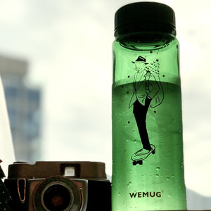 Water Bottle S500 Christmas Skateboarding - Green color - WEMUG