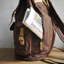 Load image into Gallery viewer, Campus Canvas Backpack L - Brown (for him) - h-a-n-d