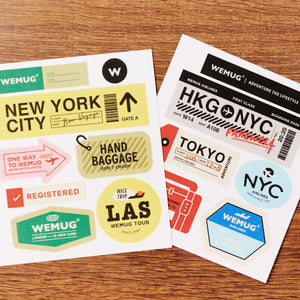 WEMUG Adventure the lifestyle travel the world Airlines stickers