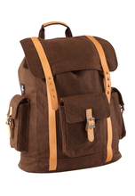 Load image into Gallery viewer, Campus Canvas Backpack L - Brown (for him)