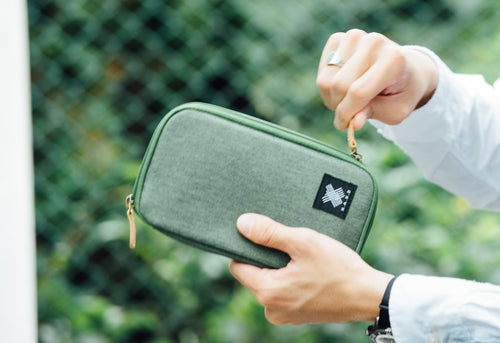 Green Urban Wallet - h-a-n-d