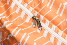 Load image into Gallery viewer, Travel Duffel Bag - Zig Zag Orange - h-a-n-d