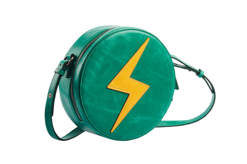 Minimal Crossbody Shoulder Bag - Flash Round Green - h-a-n-d