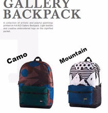 Load image into Gallery viewer, Gallery Backpack/Rucksack/Design - 2 Patterns (Mountain/Camo) For her - h-a-n-d