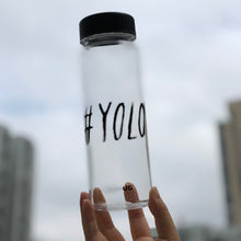 Load image into Gallery viewer, Hashtag Lifestyle Water Bottle - S500 #YOLO - WEMUG