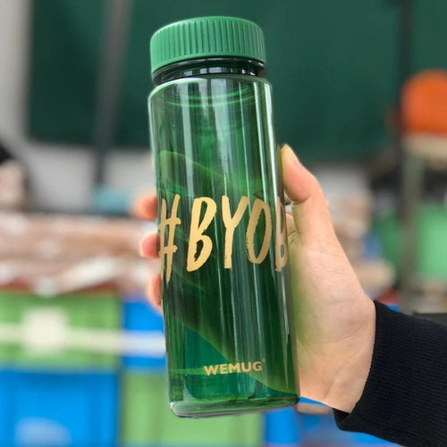 Lifestyle Water Bottle (Green)  - S500 #BYOB - h-a-n-d