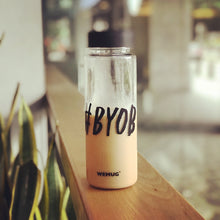 Load image into Gallery viewer, Hashtag Lifestyle Water Bottle - S500 #BYOB - WEMUG