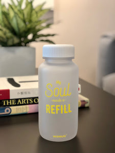"Frosty Clear ""My souls "" Tritan BPA Free Water Bottle (YELLOW WORDS)"