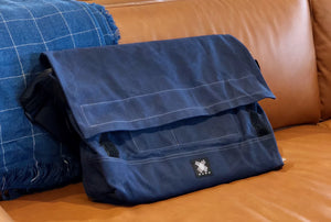 Messenger Bag - Dark Blue - Bicycle Bag - h-a-n-d