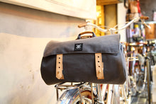 Load image into Gallery viewer, Canvas Barrel Bicycle Bag with Leather Buckles - WEMUG
